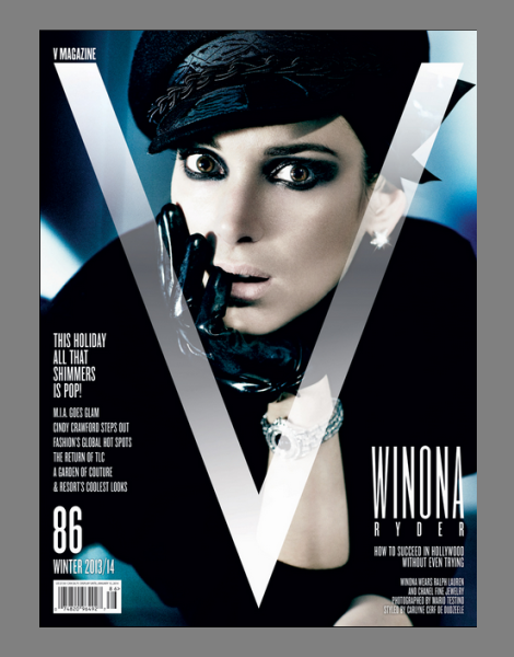 Winona Ryder by Mario Testino for V Magazine No.86