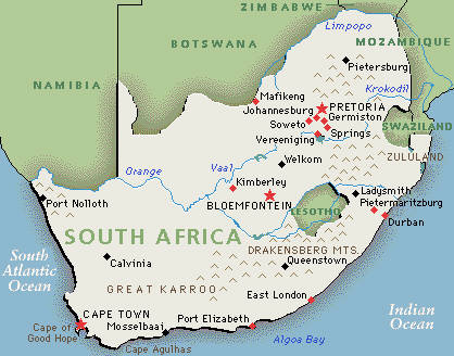 Map South Africa Western Cape Western Capes-s.africa