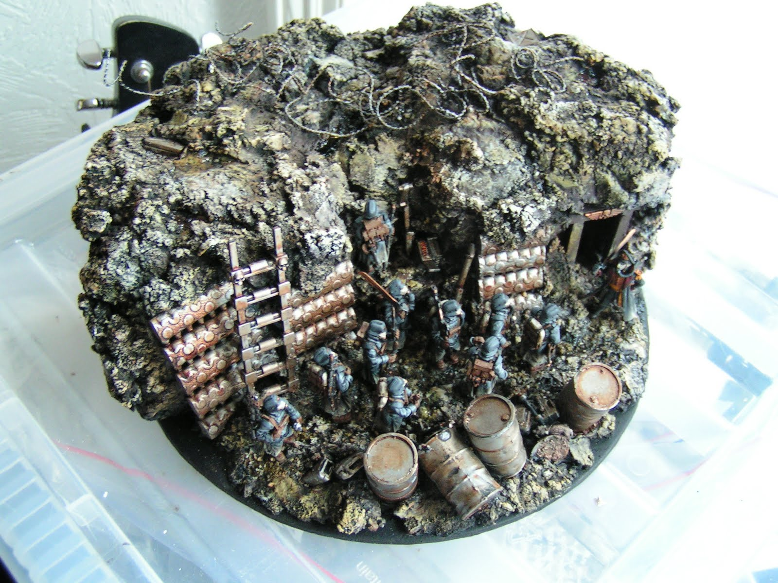 Conflict Valorax  Building a Diorama  Forge World Death Korps of