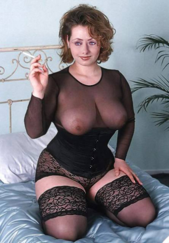 Busty Wife In Sheer Black Lingerie Smoking Bed Lover Of Big