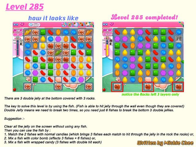 Candy Crush Saga Tips for Level 285