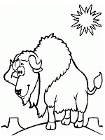 Bison Printable Kids Coloring Pages