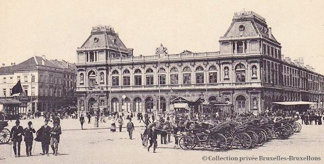 Place Rogier & Gare du Nord - Fin du XIXe siècle - Bruxelles-Bruxellons