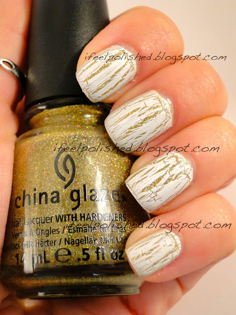 Gold with White Shatter