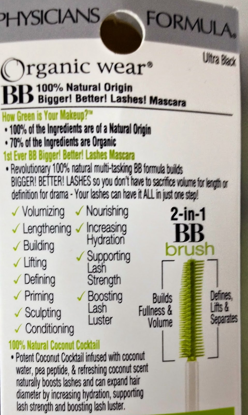 Physicians formula organic wear bb mascara review the budget heres a chart of whats in regular mascaras as opposed to the organic wear bb mascara formula nvjuhfo Images