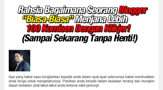 Rahsia Blogger Jana Income RM6K Dari Affiliate