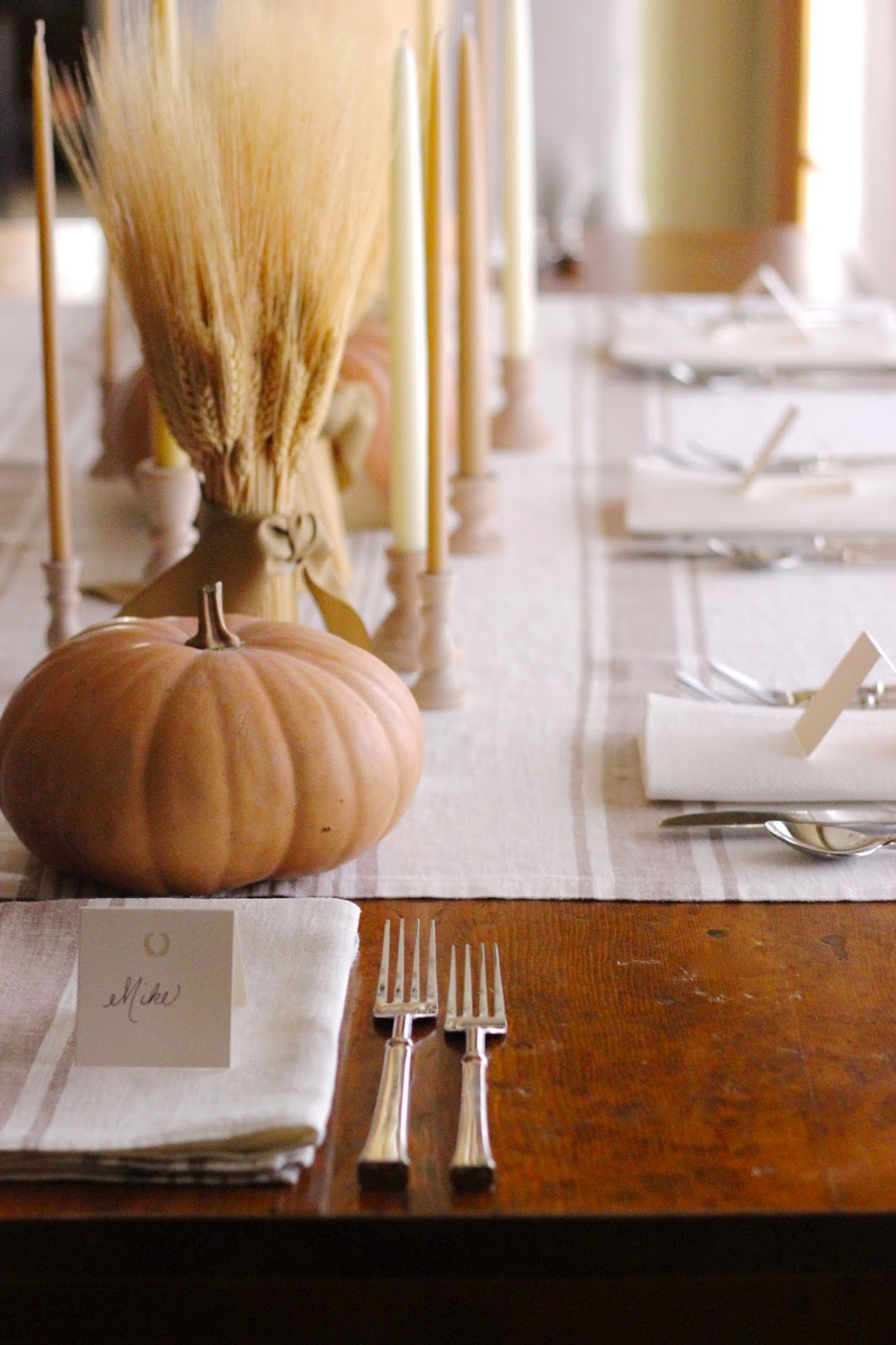 My Tips for Setting a Table | Wheat Harvest Table for Thanksgiving *Winner Announced! & Jenny Steffens Hobick: My Tips for Setting a Table | Wheat Harvest ...