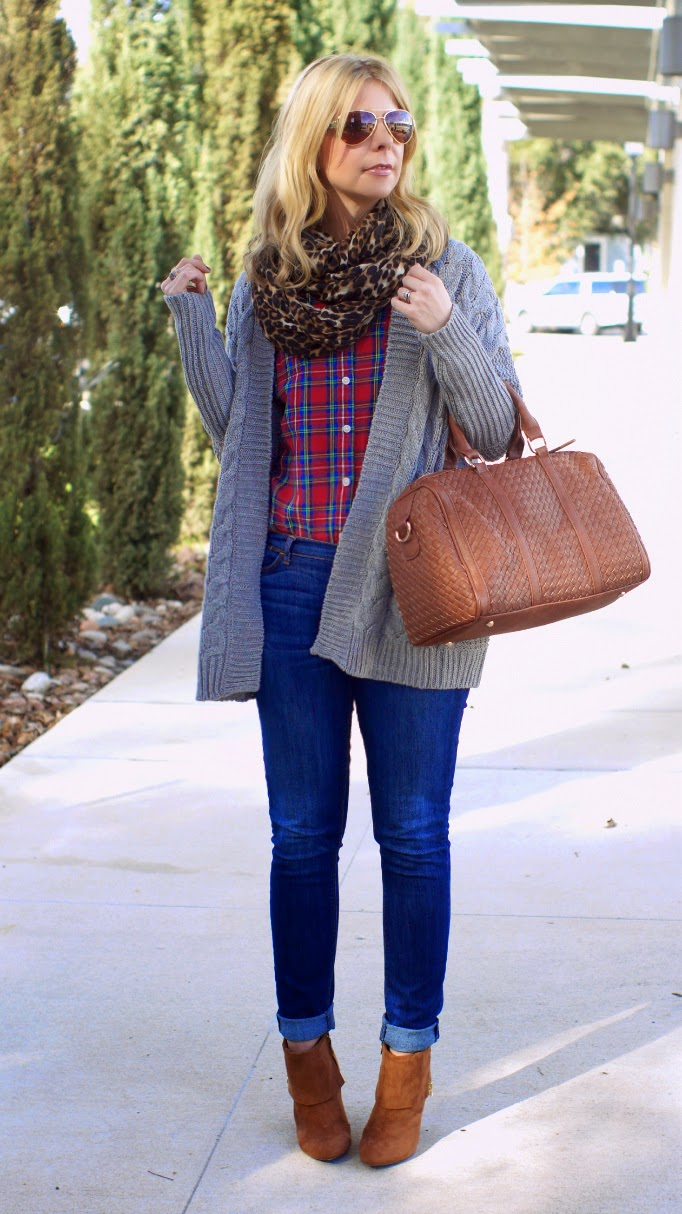 can i mix plaid and leopard for fall