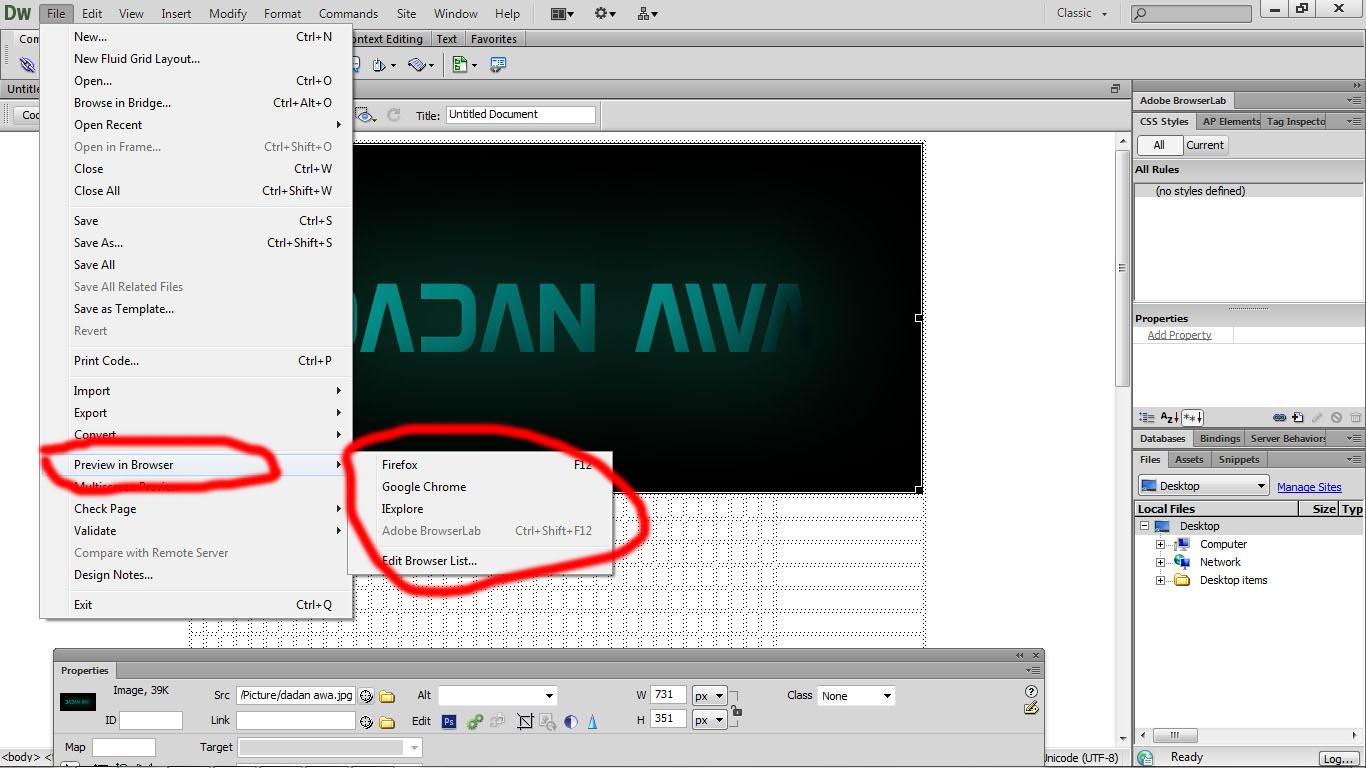Tutorial Membuat Web Simple Menggunakan Dreamweaver Cs6