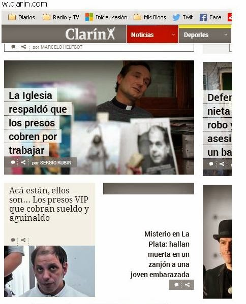CLARIN SIGUE PEGANDOLE AL PAPA FRANCISCO