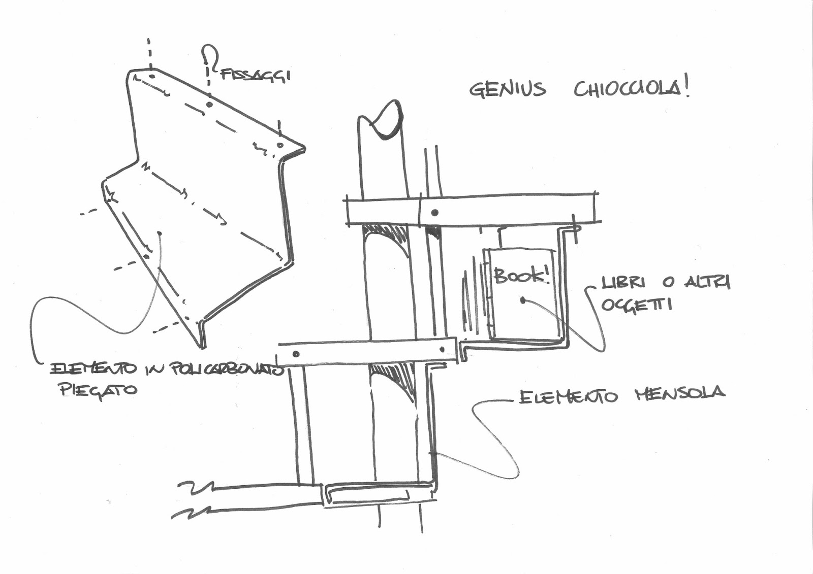 Design shelf y nei gradini fontanot design with love for Scala a chiocciola da 4 piedi