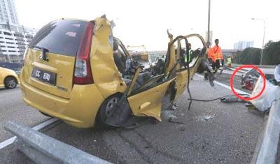 gambar kemalangan produa viva di shah alam, gambar kemalangan viva di km 14.5, kemalangan viva di lebuh raya federal, kemalangan di lebuhraya persekutuan, produa viva kemalangan 16 jun