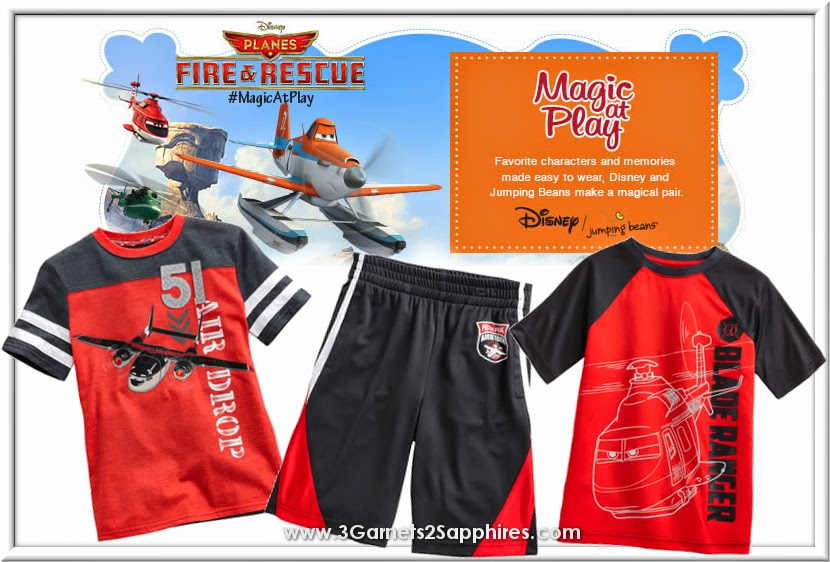 Kohls Disney Jumping Beans Planes Fire and Rescue Boys Summer Fashions #MagicAtPlay