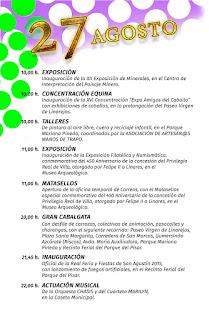 PROGRAMA DÍA 27 DE AGOSTO   Feria de San Agustín 2015  LINARES