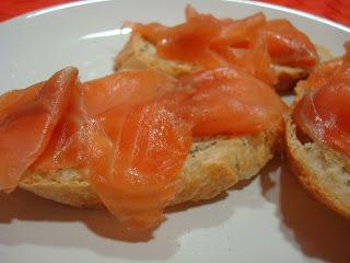 salmon marinado mostaza sal azúcar...