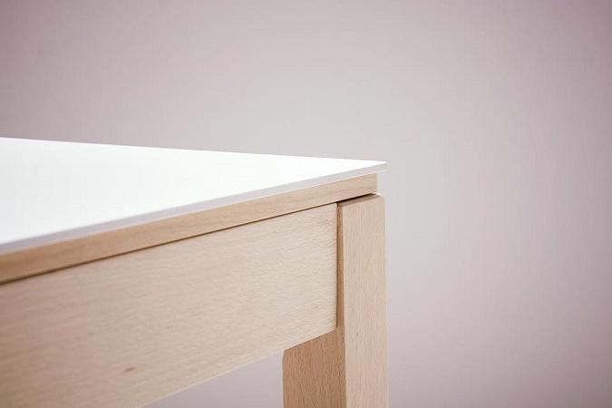 Mesa de comedor o cocina de dise o n rdico mirka con patas - Mesas de cocina en madera ...
