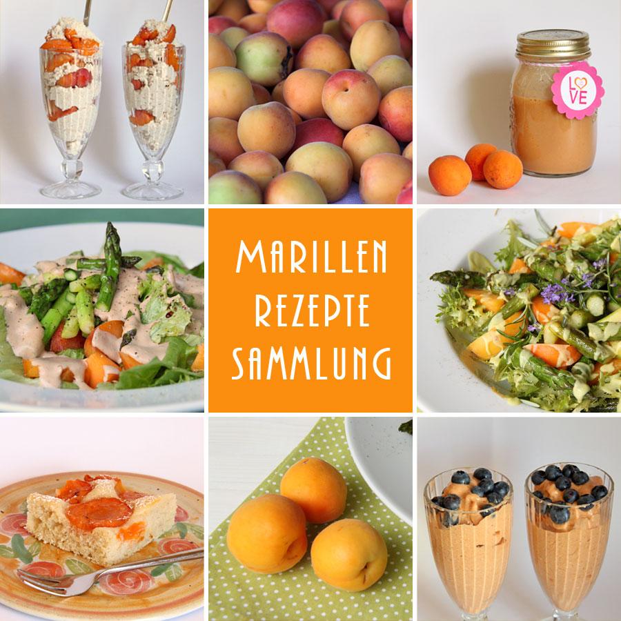 Gesammelte Marillen - Aprikosen - Rezepte