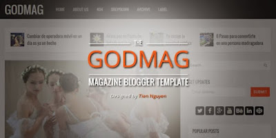 God Mag Blogger template