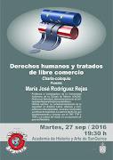 Charla en Academia San Quirce sobre derechos humanos y tratados de libre comercio