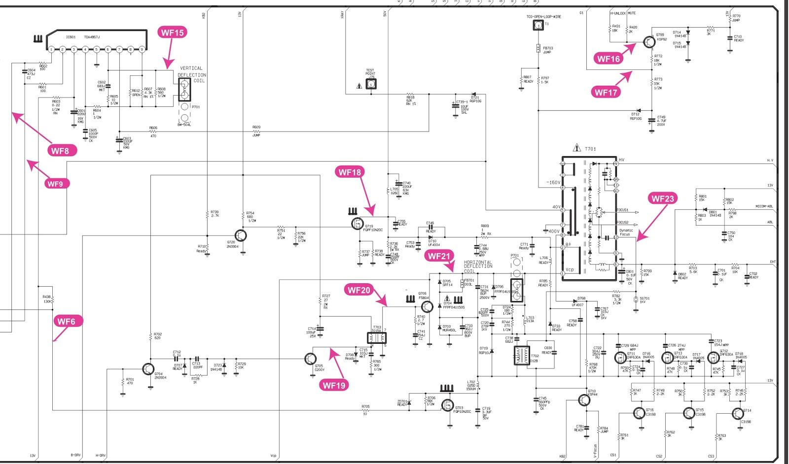 Lg Flatron C17lc  U2013 17 Inch Crt Monitor  U2013 Circuit Diagram