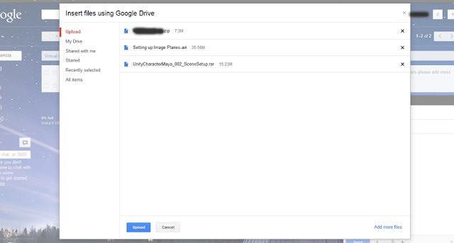 Sending files via Gmail using Google Drive