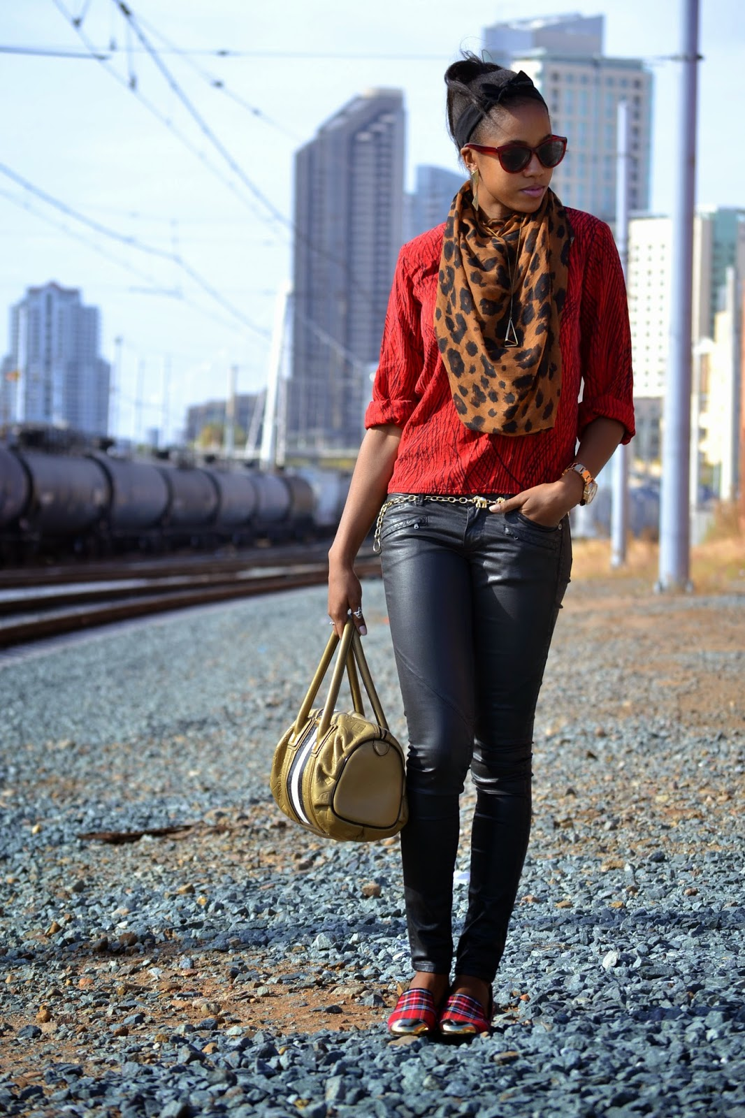 Marquise Brown fashion style blogger Red Leopard outfit post