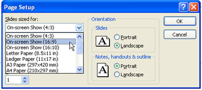 Set Widescreen in PowerPoint 2007 - 2
