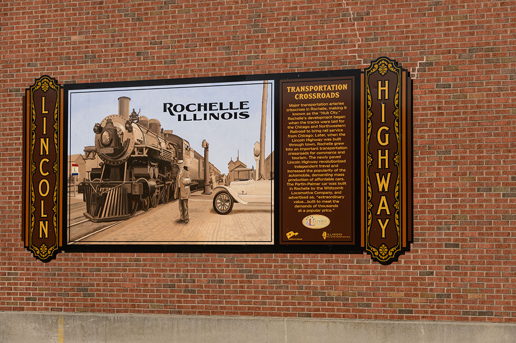 Lincoln Highway Mural - Rochelle, IL