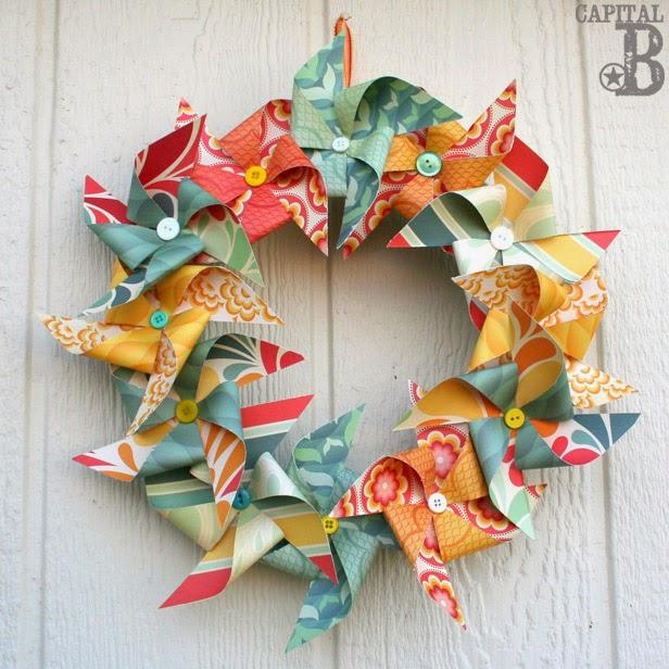 Capital B Pinspired Pinwheel Wreath