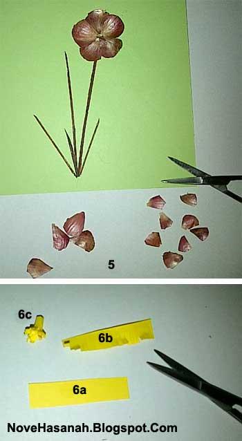 langkah-langkah membuat kerajinan tangan hiasan dinding dari kulit bawang