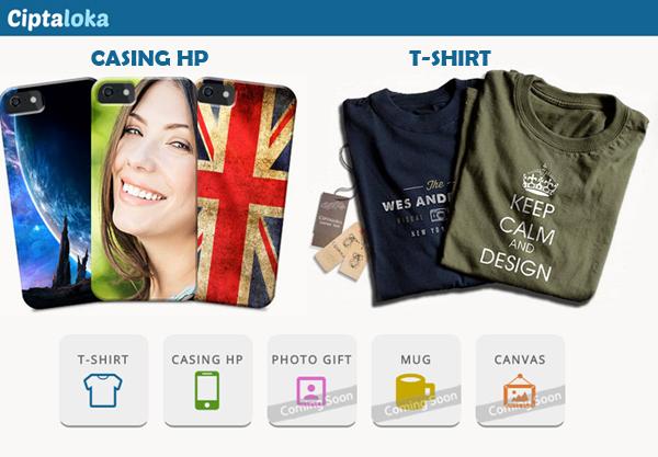Desain Kaos dan Casing HP Dengan Mudah, di Ciptaloka.com
