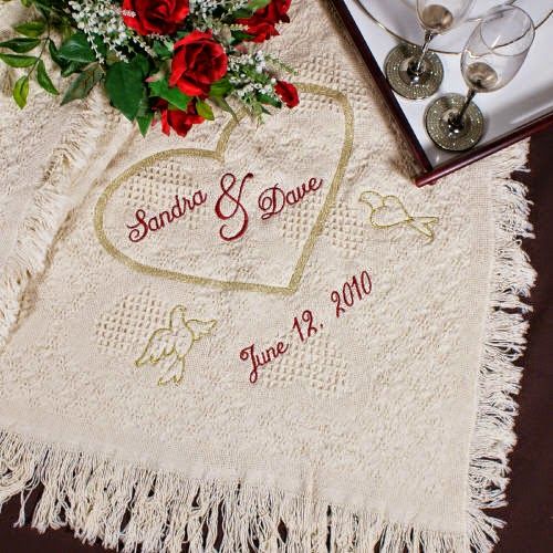 A Beautiful Keepsake to Remember that Special Day! The Embroidered Wedding Heart Afghan Giveaway ends 9/12