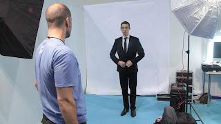 Jordan Grosse-Cruciani, le secrétaire départemental Front national des Vosges pose pour sa photo officielle lors de l'université d'été du parti à Marseille