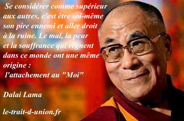 Fabuleux Citations option bonheur: Citation du Dalaï Lama sur l'orgueil XE76