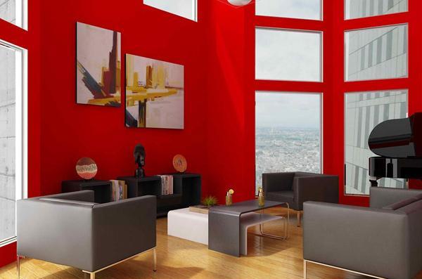 desain warna warni untuk ruang tamu dinamis rancangan