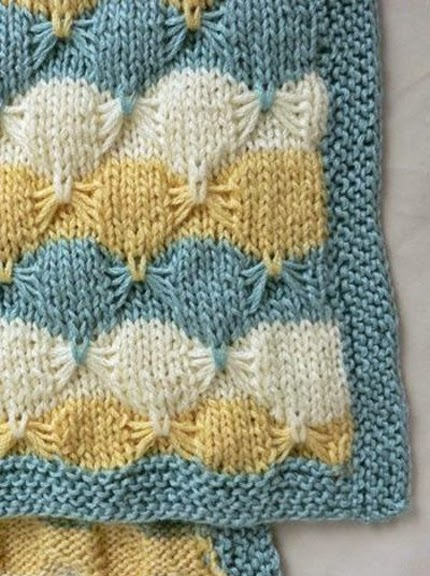 Butterfly Baby Blanket Knitting Pattern : We Like Knitting: Little Butterfly Baby Blanket - Free Pattern