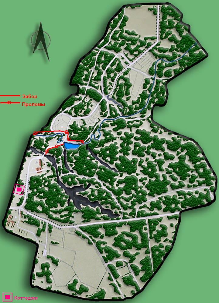 Ниже приводится карта Ботсада,
