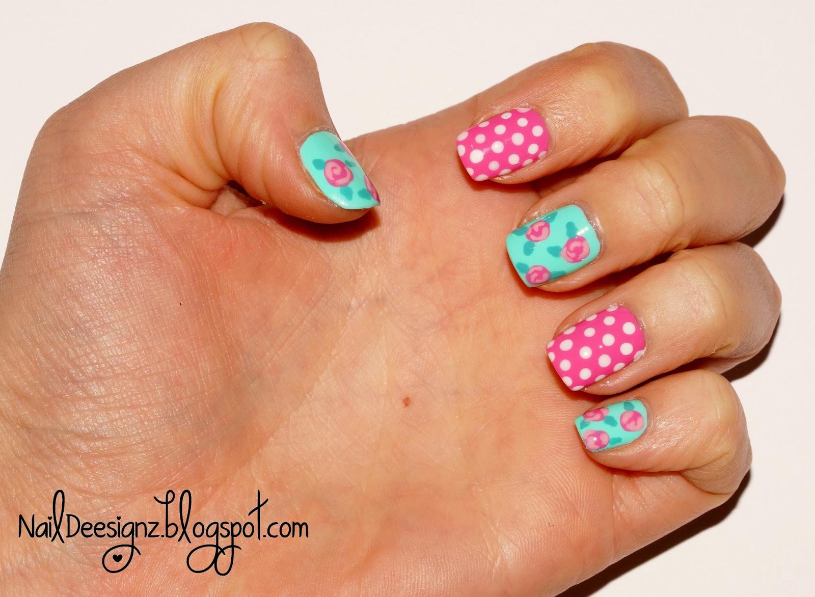 Naildeesignz Shabby Chic Nail Art