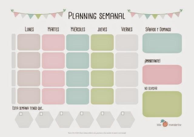 Mil y un detalles: Plannings 2015 gratuitos !!!