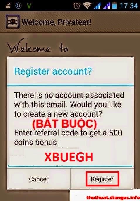 Kiếm tiền trên Android uy tín CashPrirate