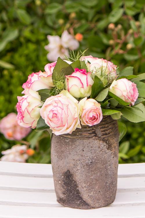 Amalie loves Denmark frische Rosen vom Wochenmarkt