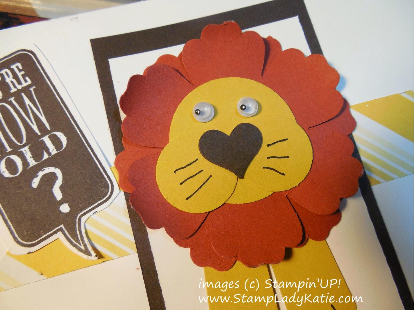 Punch Art Lion card