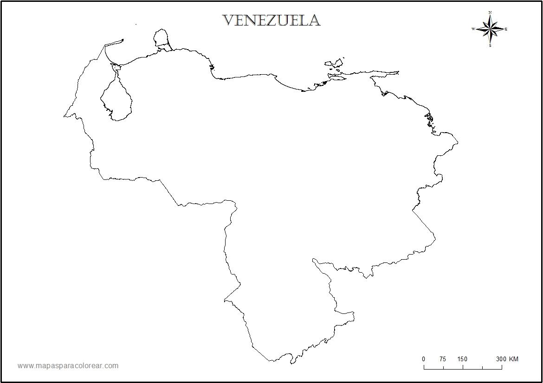 Mapas de Venezuela: Croquis del mapa de venezuela