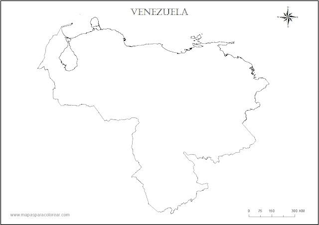 croquis del mapa de venezuela
