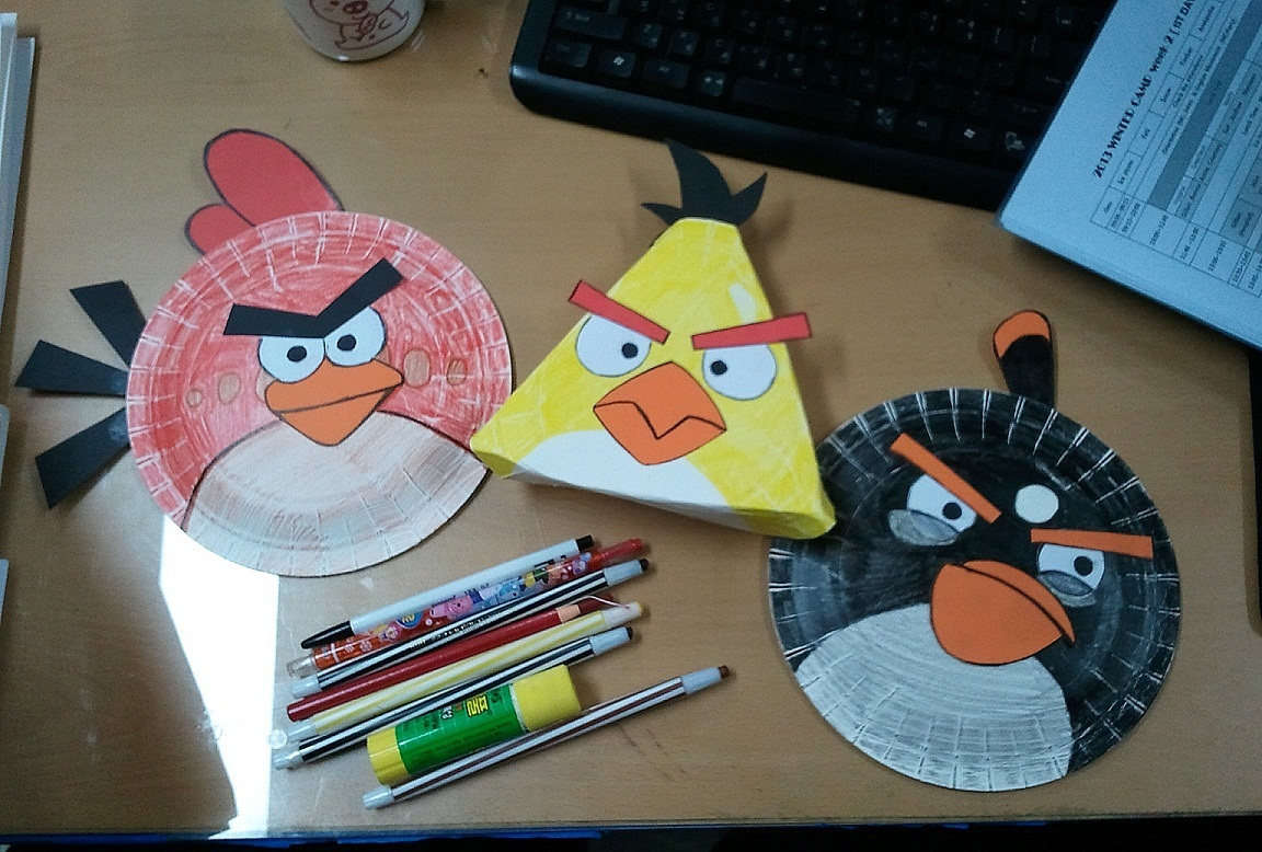 & Mango Chutney: Craft(y) Project: Paper Plate Angry Birds