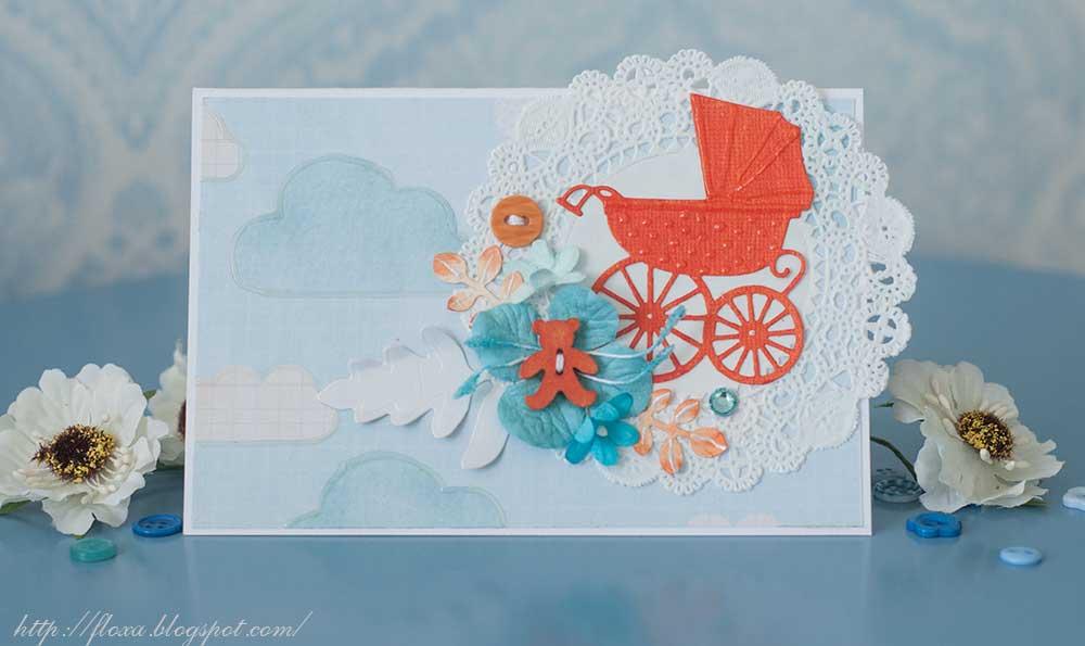 открытка скрап малыш детское