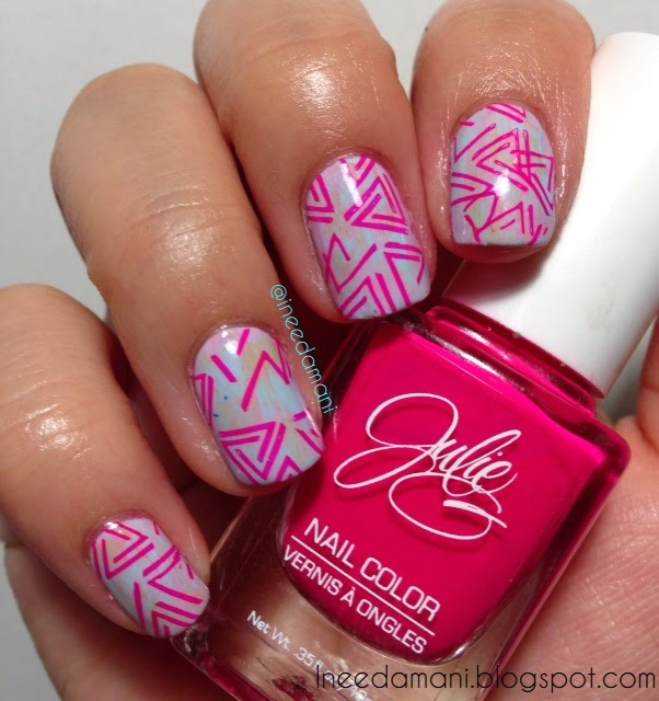 90s throwback triangle pastel distressed nails