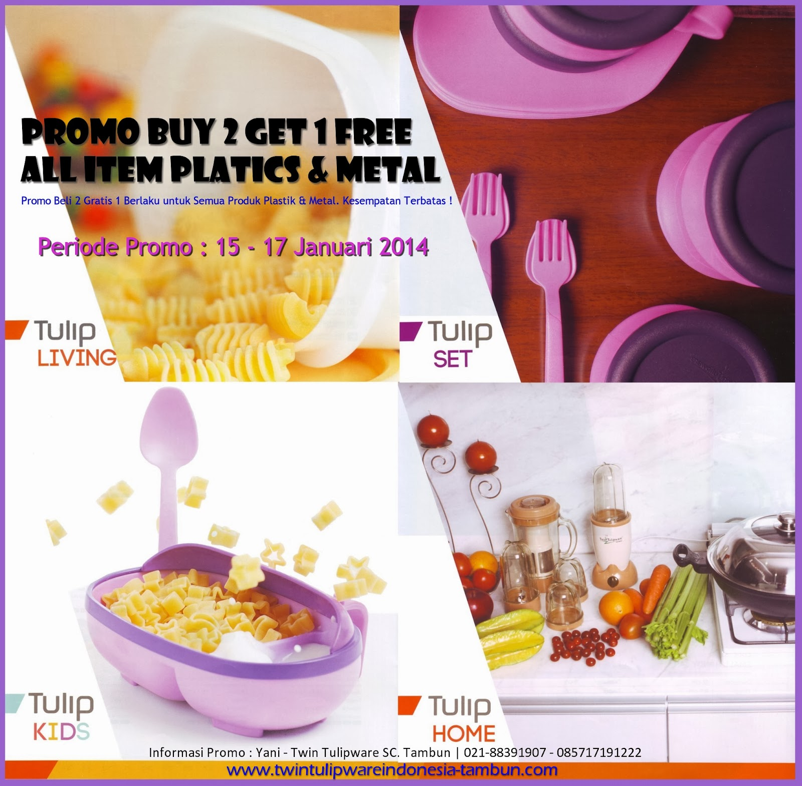Promo 2 Free 1 All Item Plastics & Metal 2014