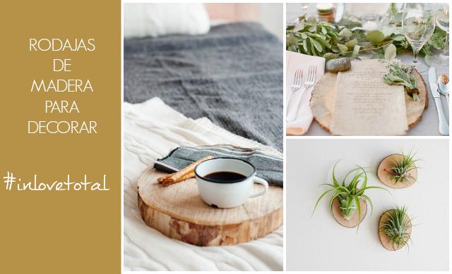 Decorar con rodajas de madera la garbatella blog de - Troncos de madera para decorar ...
