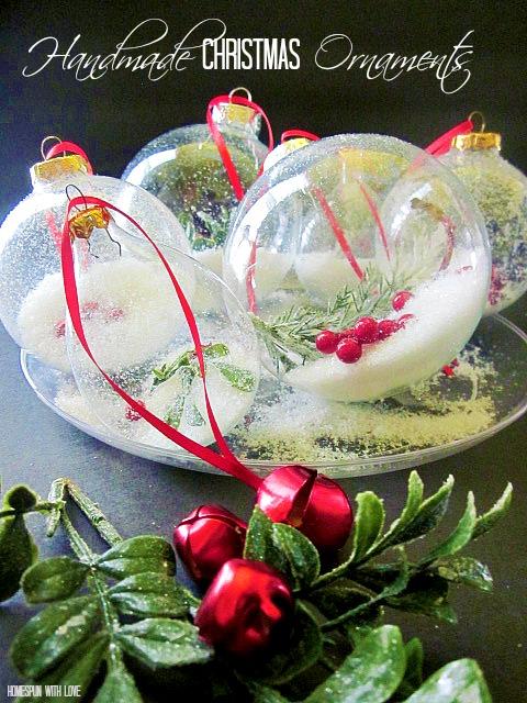 homespun with love pretty handmade christmas ornaments. Black Bedroom Furniture Sets. Home Design Ideas